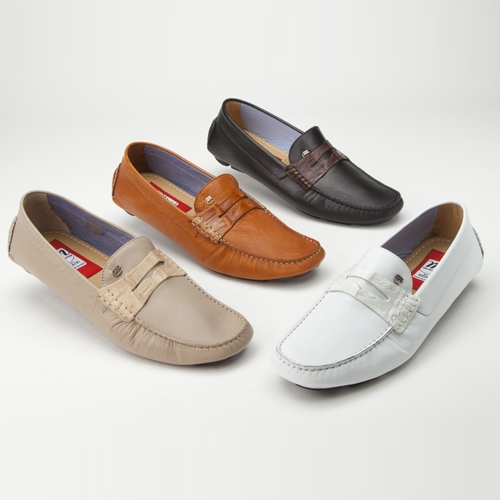 Mauri 9247 Palio Calfskin & Crocodile Driving Loafers (Special Order) Image