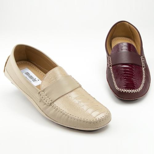 Mauri 9289 Maranello Nappa & Ostrich Leg Loafers (Special Order) Image