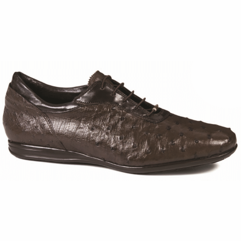 Mauri 9295 Ostrich Quill Sneakers Brown (Special Order) Image