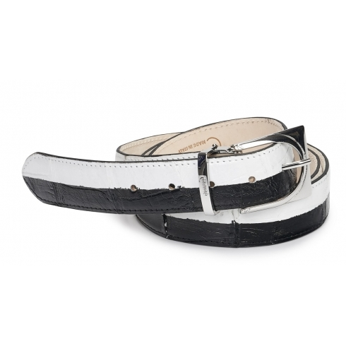 Mauri-Alligator-Belt-Black-White Image