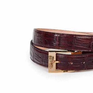 Mauri Alligator Belt Ruby Red Image