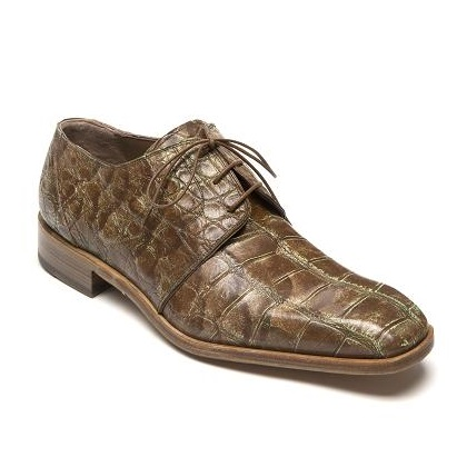Mauri Bartolomco 53141-1 Alligator Derby Shoes Camel / Yellow (Special Order) Image