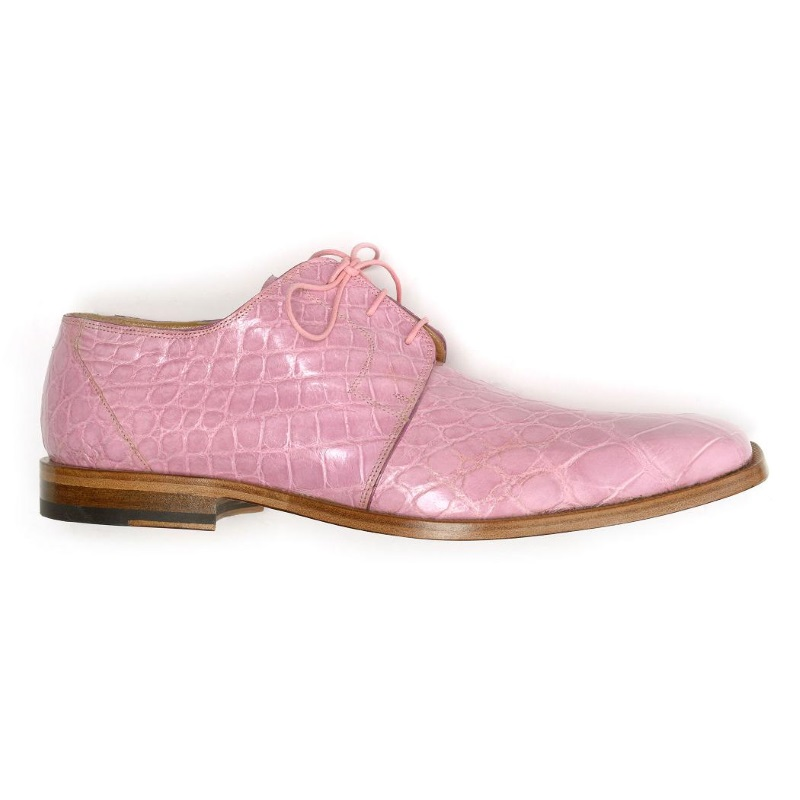 Mauri Bartolomco 53141-1 Alligator Derby Shoes Pink (SPECIAL ORDER) Image