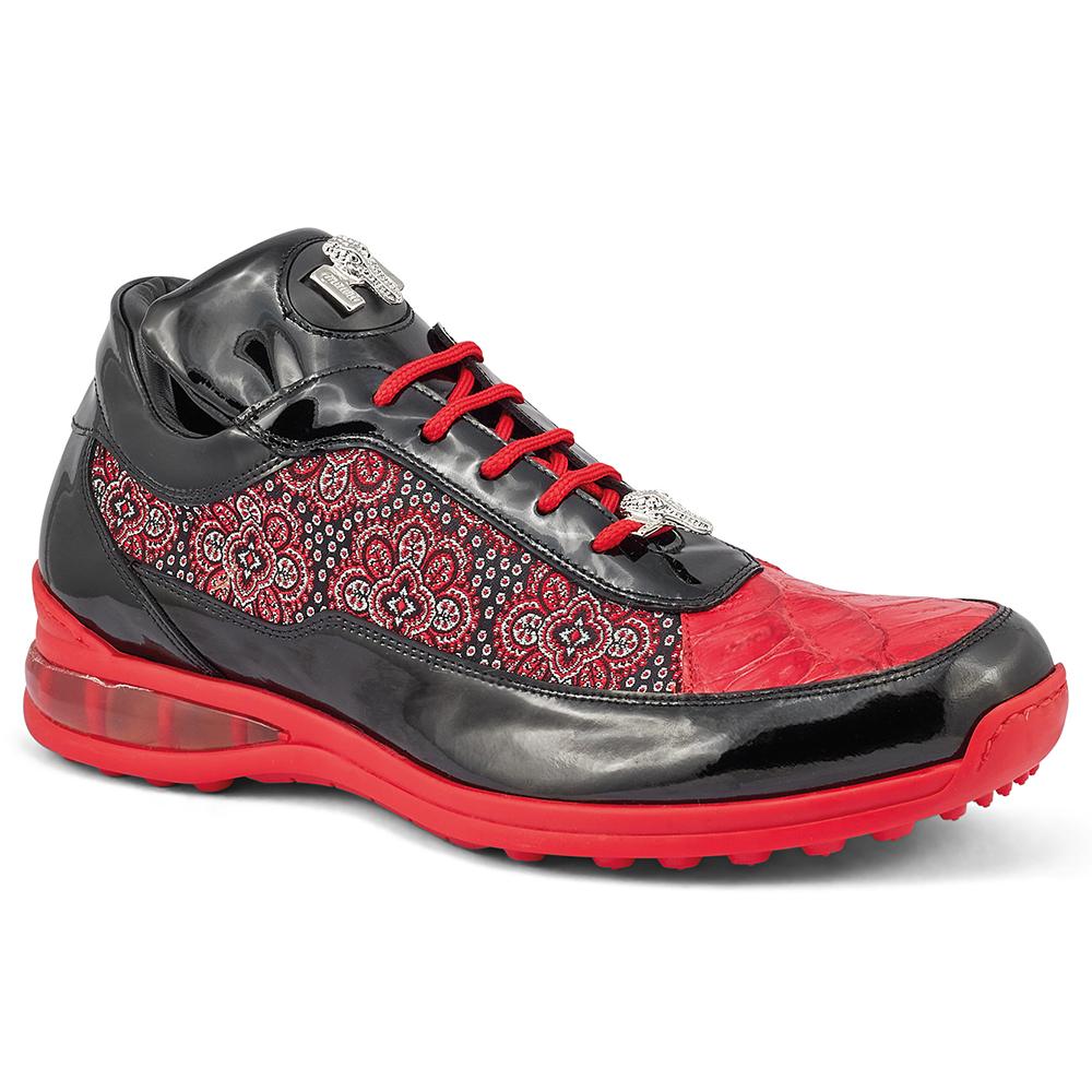 Mauri Bubble 8900/2 Patent / Baby Croc & Matahari Fabric Sneakers Black / Red Image