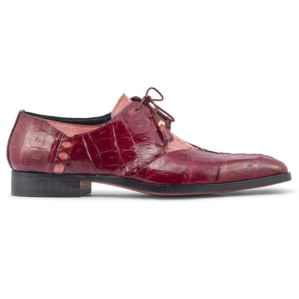 Mauri Bumpy 4942 Ostrich Leg & Baby Croc Shoes Fucsia / Ruby Red Image