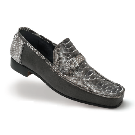 Mauri Ca'd'oro 3942 Python & Nappa Loafers Gray (Special Order) Image