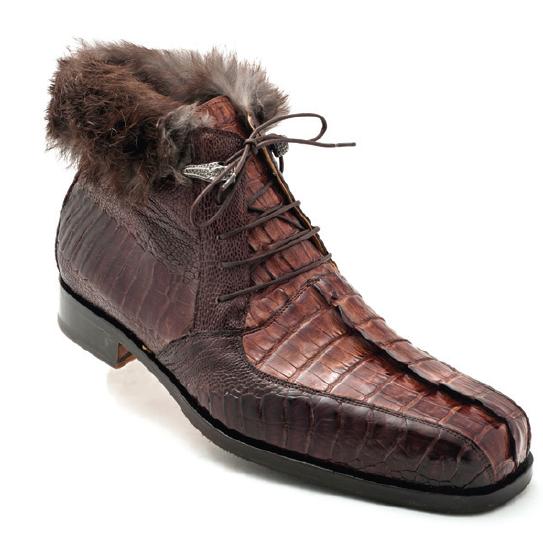 Mauri Cervinia 4569 Hornback & Ostrich Boots Sport Rust / Dark Brown (Special Order) Image