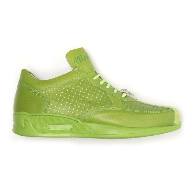 Mauri Cherry M770 Nappa & Croc Sneakers Green (Special Order) Image