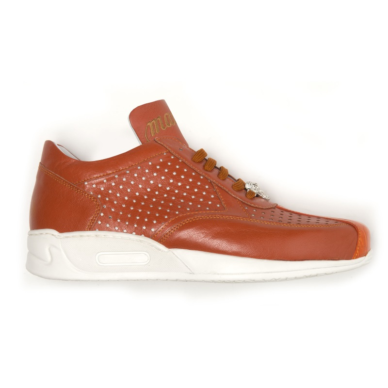 Mauri Cherry M770 Nappa & Croc Sneakers Orange (Special Order) Image