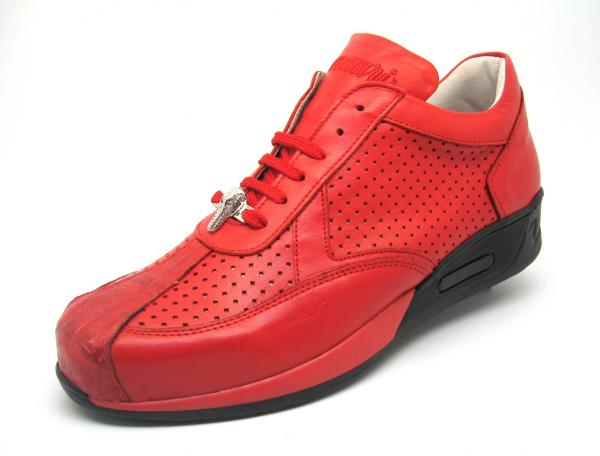Mauri Cherry M770 Nappa & Crocodile Sneakers Red (Special Order) Image