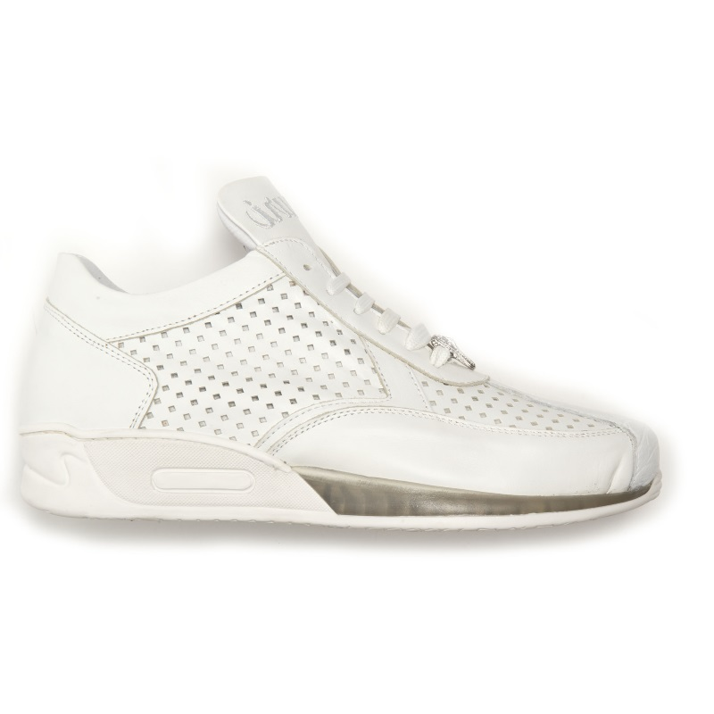 Mauri Cherry M770 Nappa & Croc Sneakers White (Special Order) Image