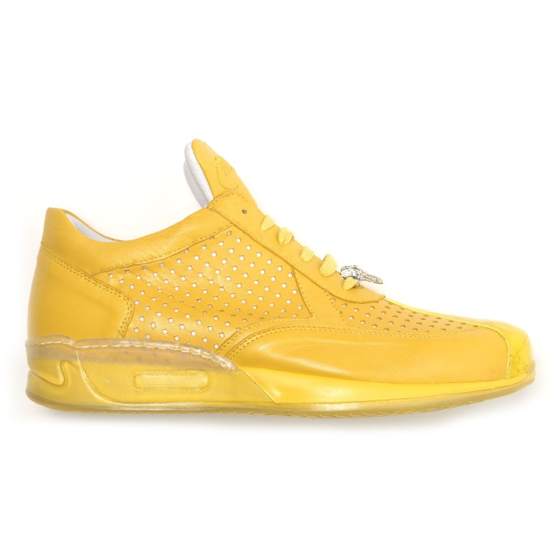 Mauri Cherry M770 Nappa & Crocodile Sneakers Yellow (Special Order) Image