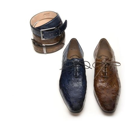 Mauri Clemente 1067 Ostrich Quill Oxfords (Special Order) Image
