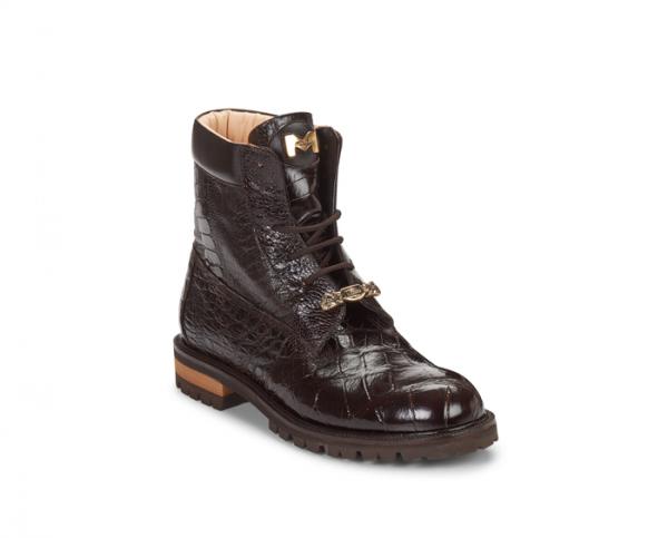 Mauri 4637 Commando Alligator / Ostrich Leg / Nappa Boots Sport (Special Order) Image