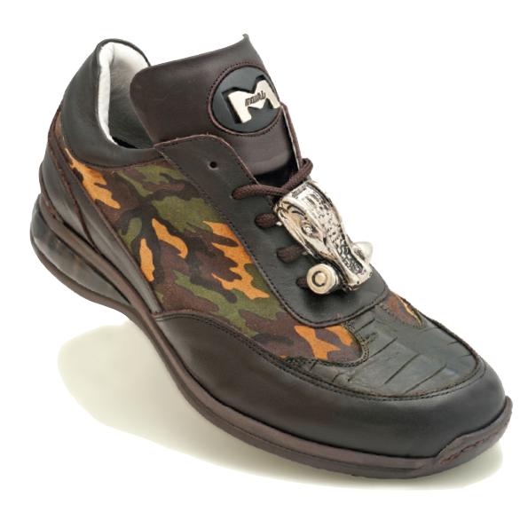Mauri Concrete Jungle 8655 Crocodile & Nappa Sneakers Camo / Sport Rust (Special Order) Image