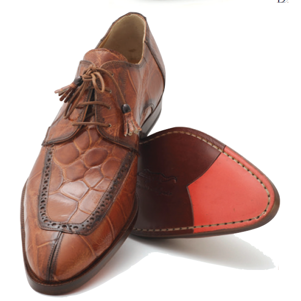 Mauri Conte 4633 Alligator Shoes Nutmeg (Special Order) Image