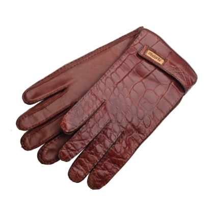 Mauri Crocodile Gloves Gold (Special Order) Image