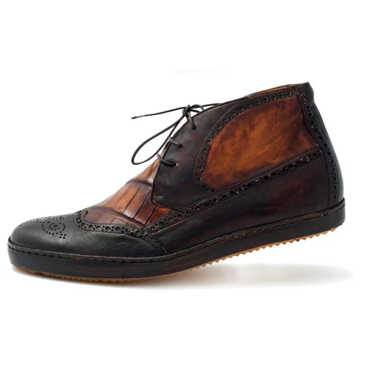 Mauri D'este 8563 Wingtip Brogue Sneaker Boot Sport Rust (Special Order) Image