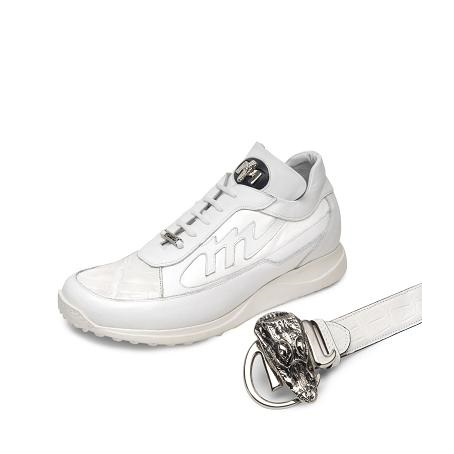 Mauri Eclisse 8555 Patent Leather / Crocodile / Nappa Sneakers White (Special Order) Image