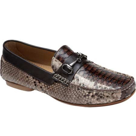 Mauri Foro 9220 Python Bit Loafers Brown (Special Order) Image