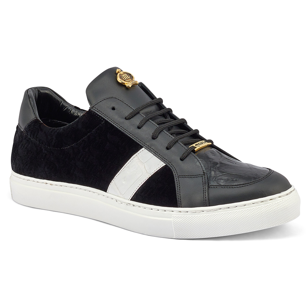 Mauri Freeze 8418 Nappa Croc & Velvet Sneakers Black / White Image