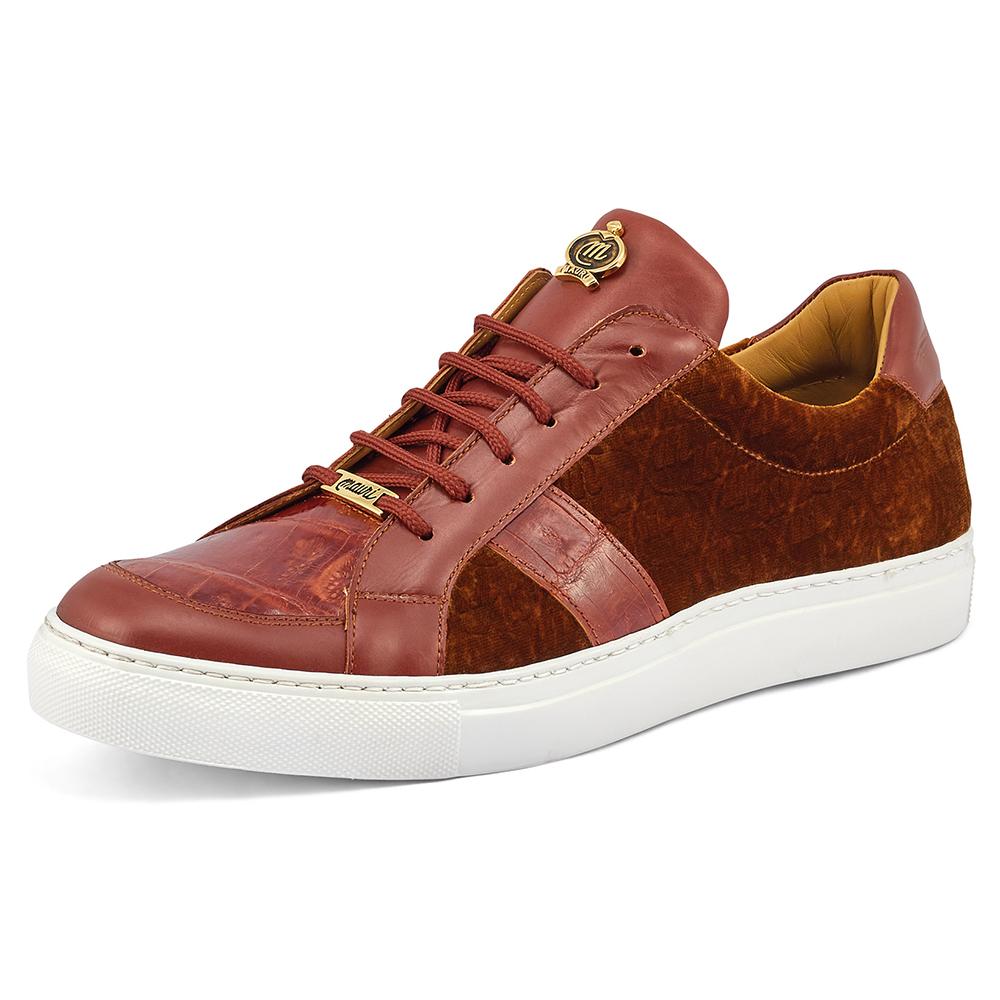 Mauri Freeze 8418 Nappa Croc & Velvet Sneakers Gold / Camel Image