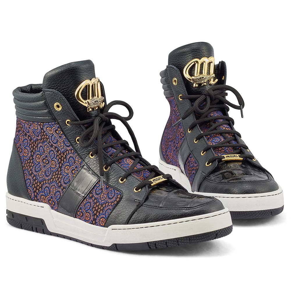 Mauri Genesis 8411 Time / Baby Croc & Matahari Fabric Sneakers Black / Blue / Orange Image