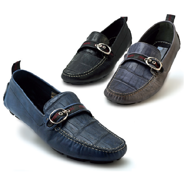 Mauri Golden Touch 9272 Calfskin & Crocodile Driving Shoes (Special Order) Image