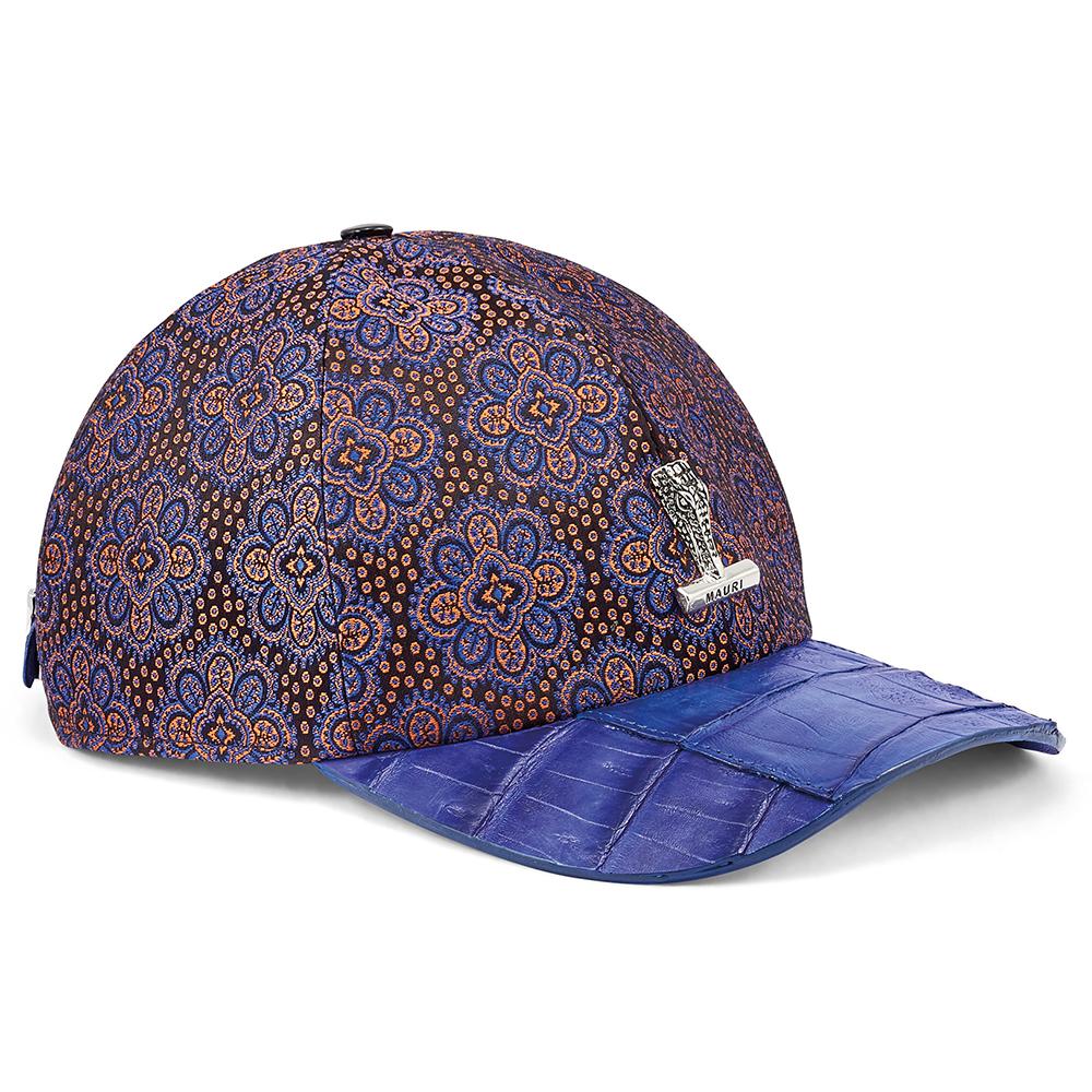 Mauri H65 Baby Croc & Matahari Fabric Hat Black / Blue / Orange Image