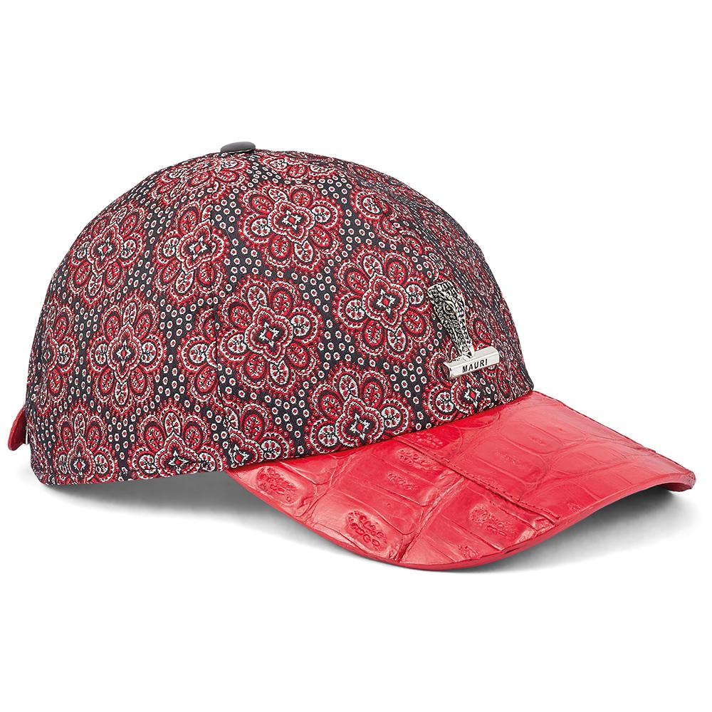 Mauri H65 Baby Croc & Matahari Fabric Hat Red / Black Image