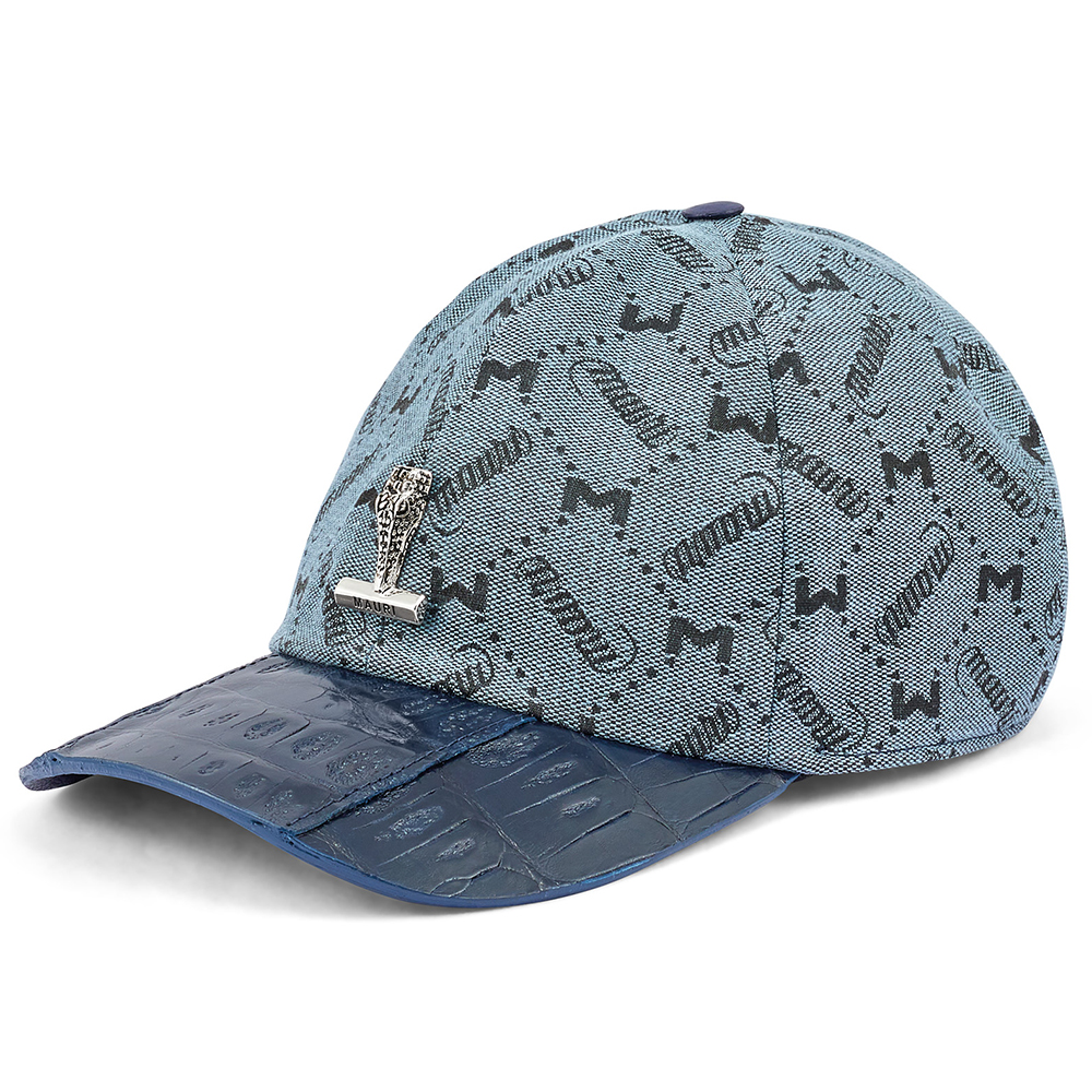 Mauri H65 Baby Croc & Mauri Fabric Hat W Blue Image