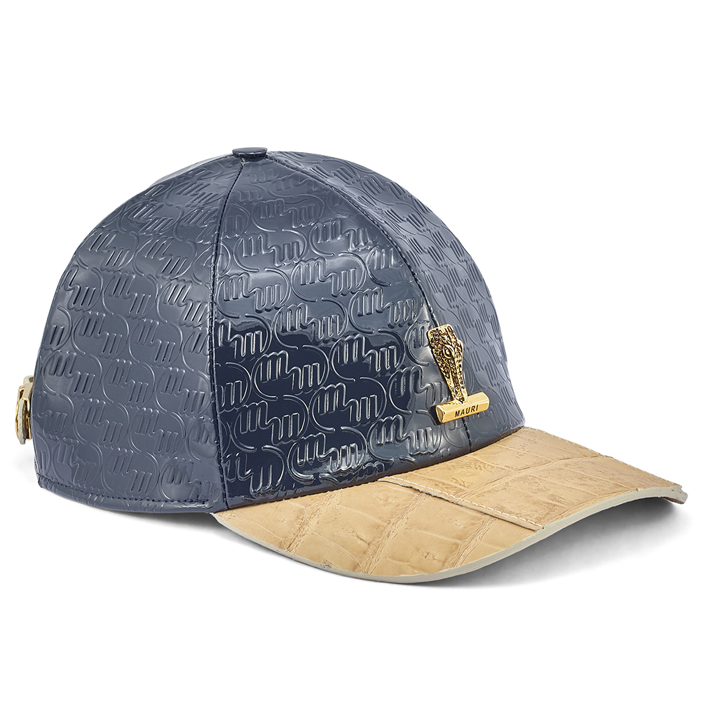 Mauri H65 Baby Croc & Patent Embossed Hat W Blue / Champagne Image