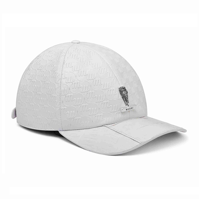 Mauri H65 Baby Crocodile / Embossed Nappa Cap White (Special Order) Image