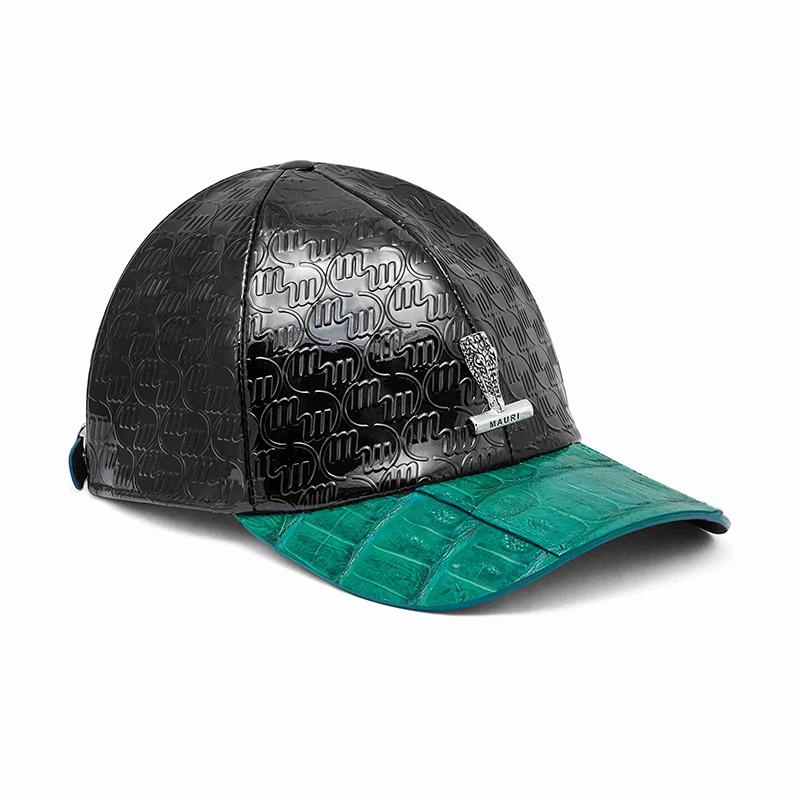 Mauri H65 Baby Crocodile / Embossed Patent Cap Black / Leaf Green Image