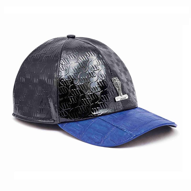 Mauri H65 Baby Crocodile / Embossed Patent Cap Black / Royal Blue Image