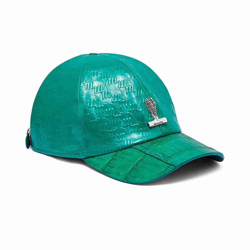 Mauri H65 Baby Crocodile / Embossed Patent Cap Leaf Green Image