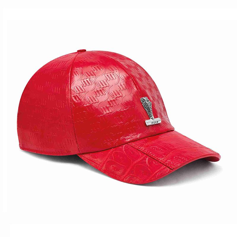 Mauri H65 Baby Crocodile / Embossed Patent Cap Red Image