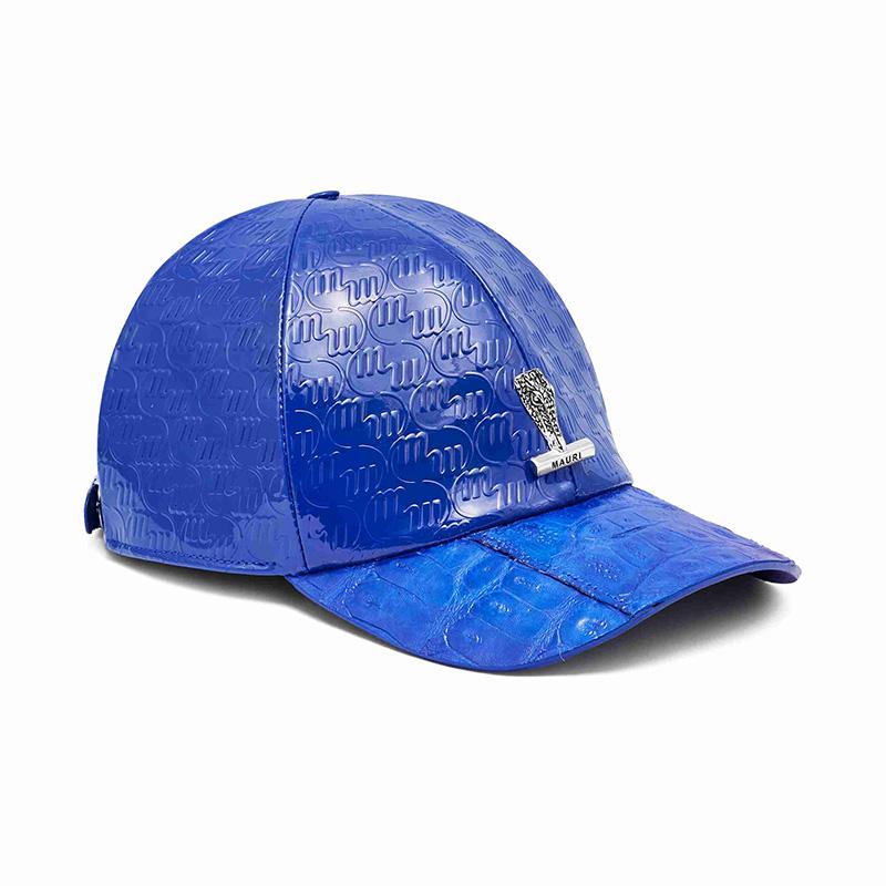 Mauri H65 Baby Crocodile / Embossed Patent Cap Royal Blue Image
