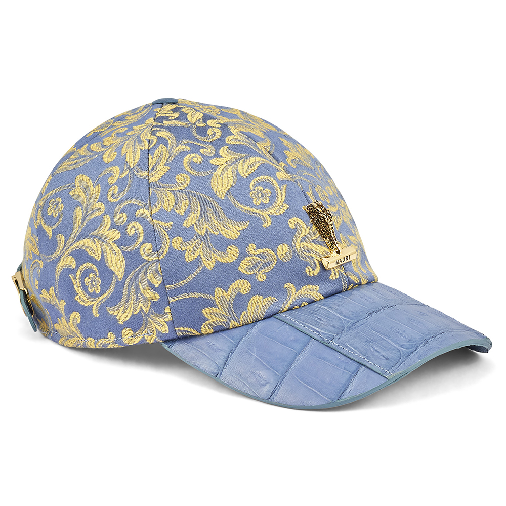 Mauri H65 Croc & Gobelins Fabric Hat New Blue Image