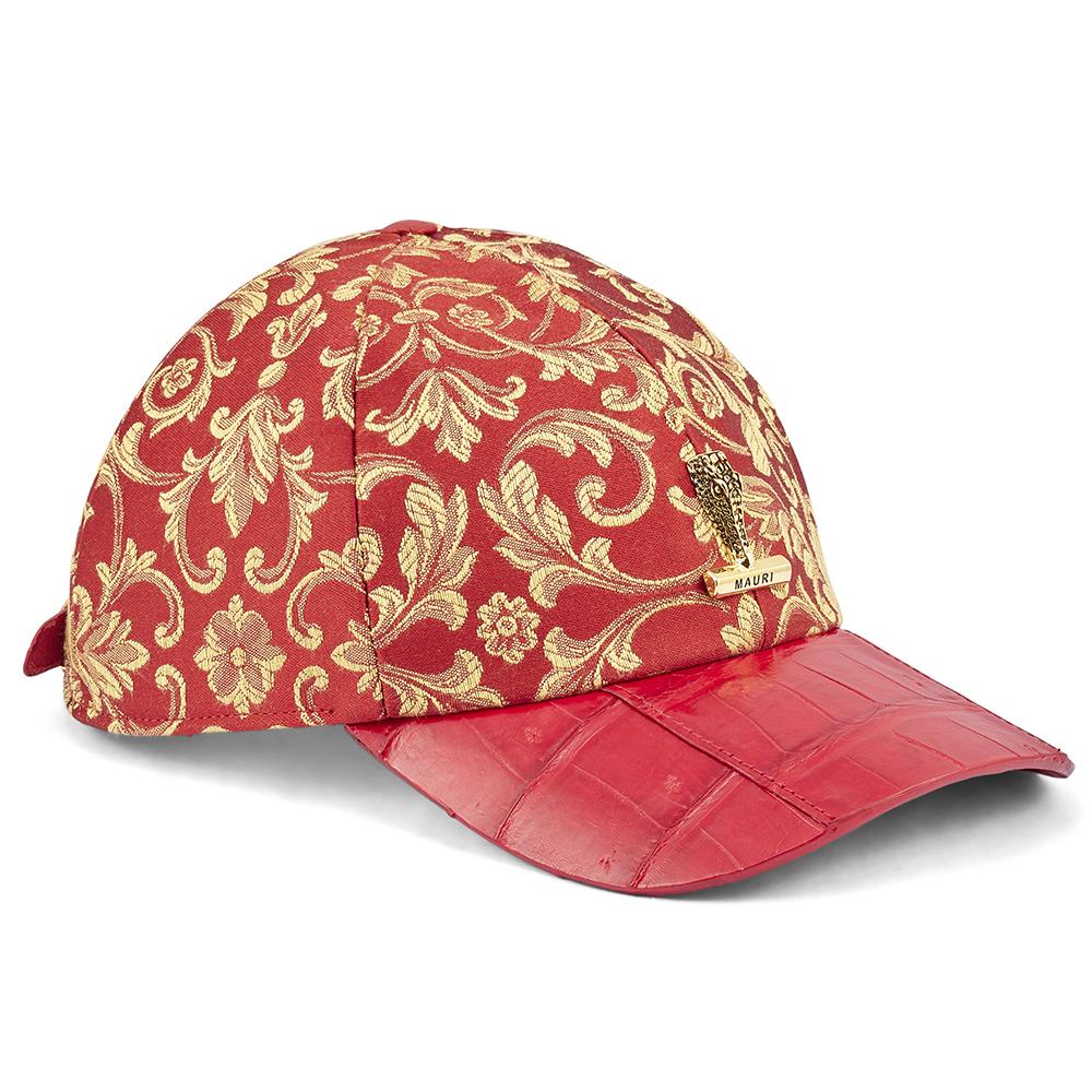 Mauri H65 Croc & Gobelins Fabric Hat Red Image