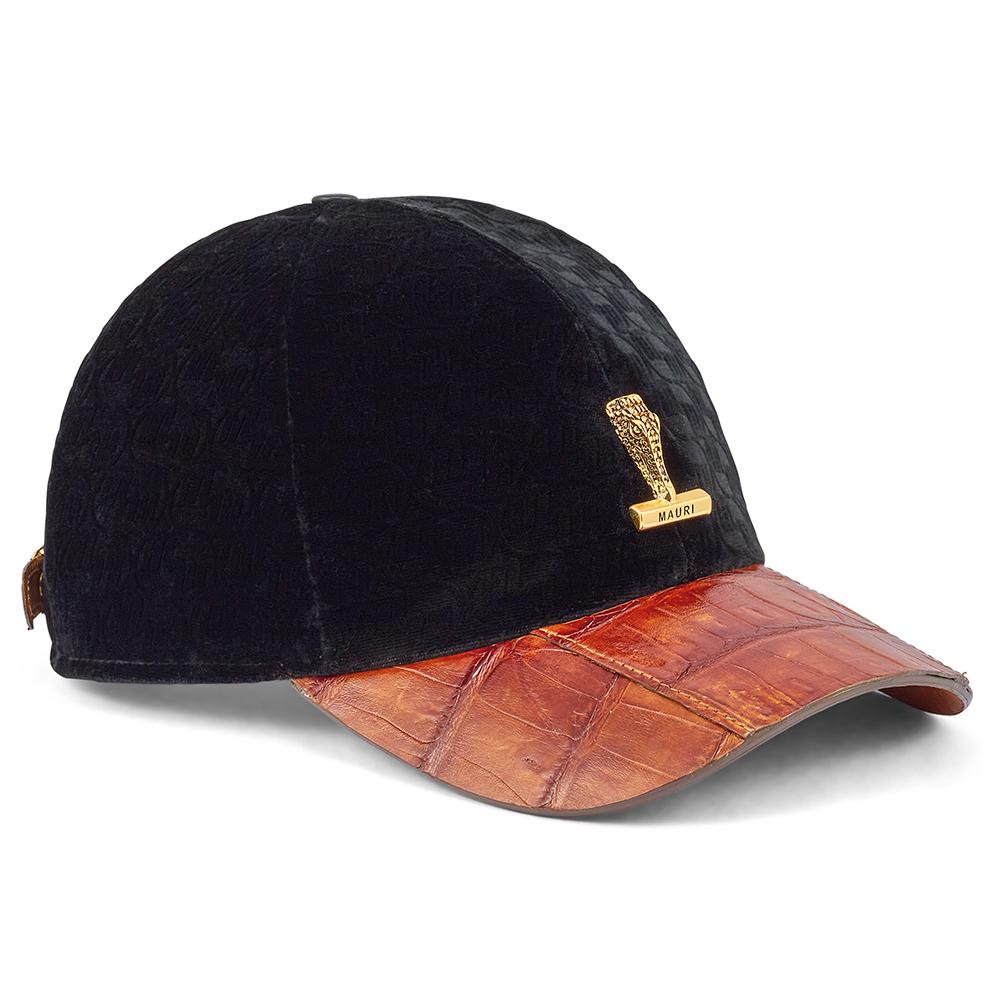 Mauri H65 Croc & Velvet Hat Mustard / Black Image