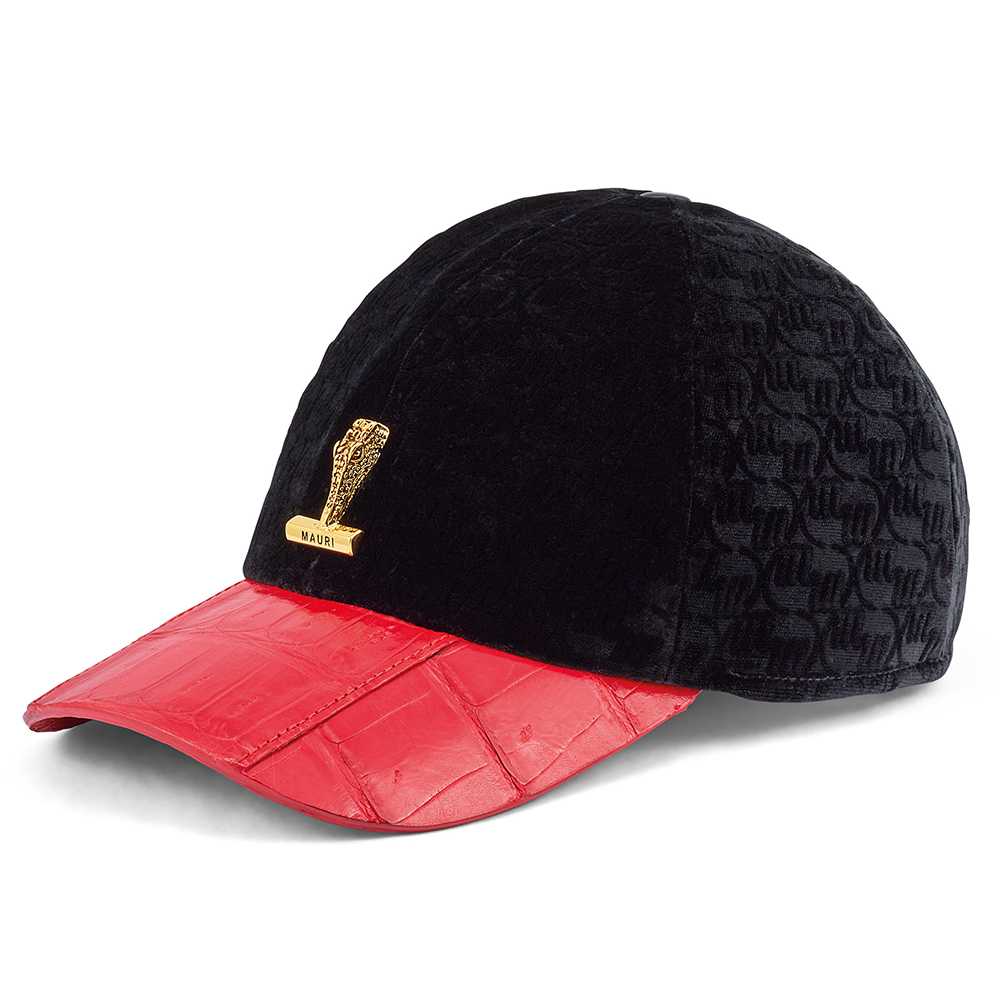Mauri H65 Croc & Velvet Hat Red / Black Image