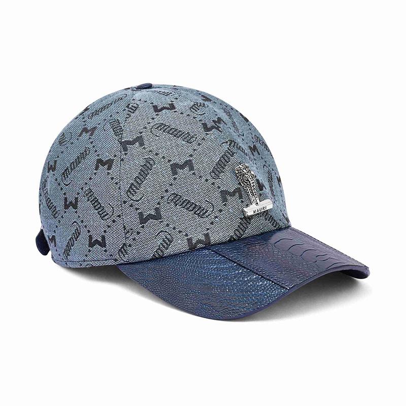 Mauri H65 Ostrich Leg / Fabric Cap Blue (Special Order) Image