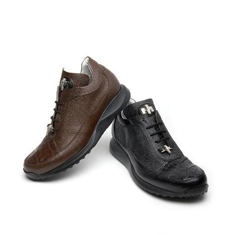 Mauri King 8900-2 Pebble Grain & Crocodile Sneakers (Special Order) Image