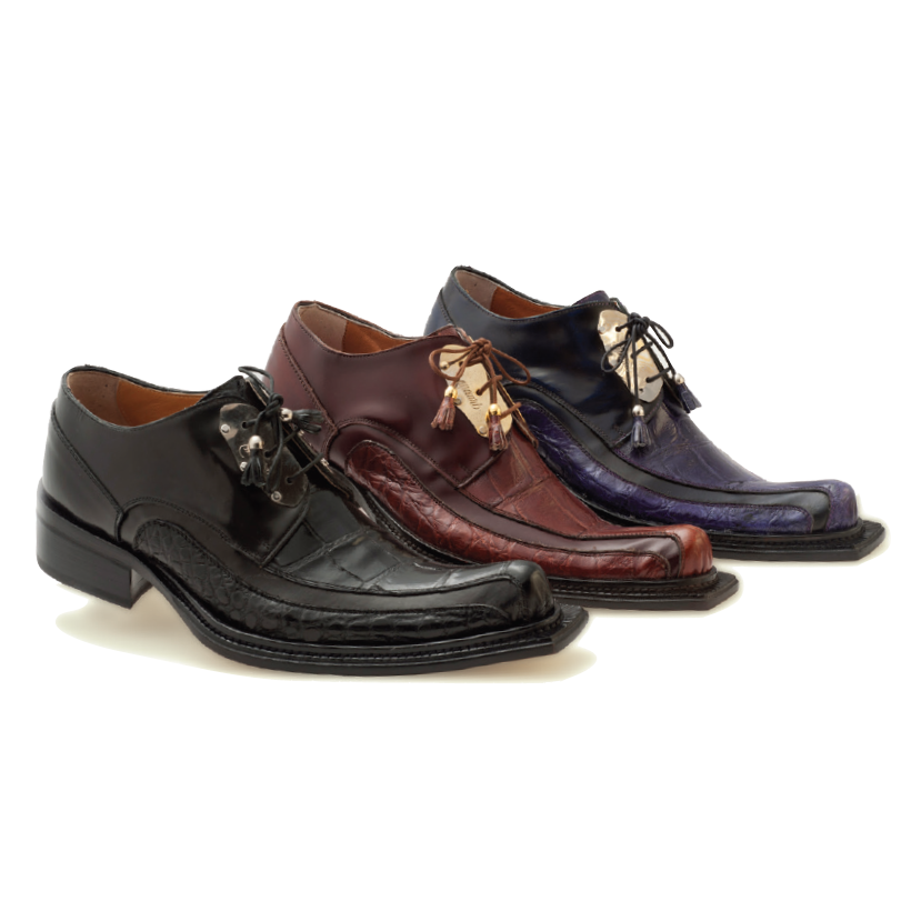 Mauri Leone 44191 Hand Painted Alligator & Calfskin Shoes (Special Order) Image