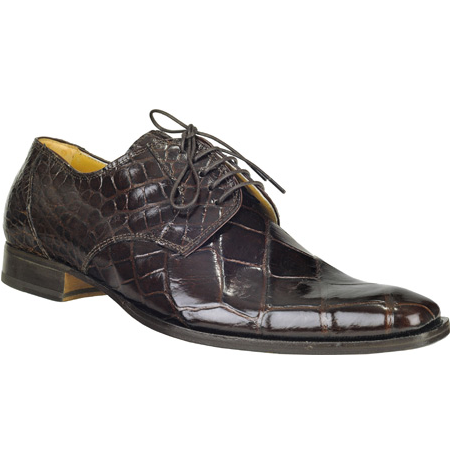 Mauri M508 Baby Alligator Derby Shoes Rust (Special Order) Image