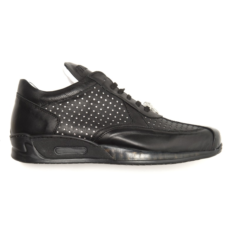 Mauri Cherry M770 Nappa & Croc Sneakers Black (Special Order) Image