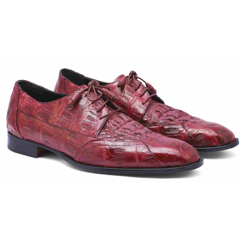 Mauri M777 Crocodile & Hornback Shoes Burgundy Image