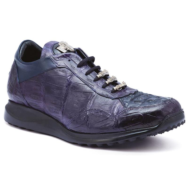 Mauri M789 Everglades Crocodile & Hornback Sneakers Wonder Blue (Special Order) Image