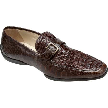 Mauri Martini 9259 Ostrich & Hornback Strap Loafers Sport Rust (Special Order) Image